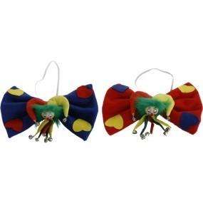 Fliege Clown bunt sortiert, ca. 21x5x15 cm