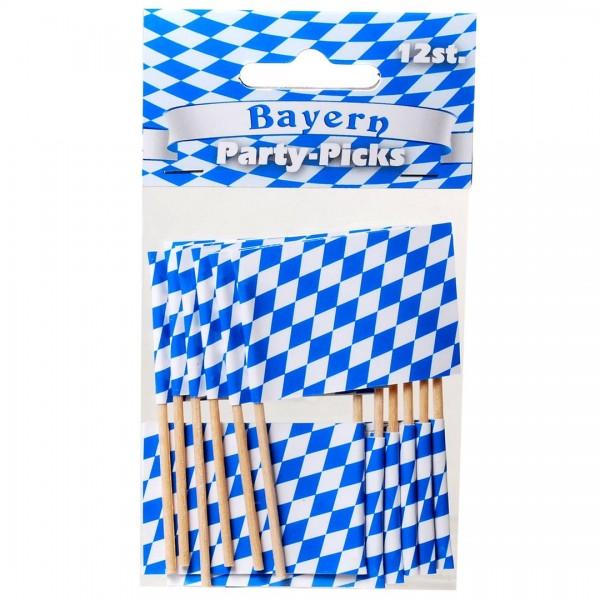 Flaggenpicker Bayernraute, 12 St.