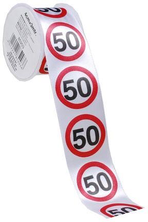 Geschenkband 50 Verkehrsschilder,4 cm x 3 Meter