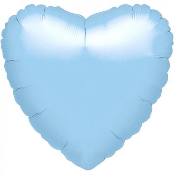 Mini-Folienherz hellblau, luftgefüllt, ca. 10 cm