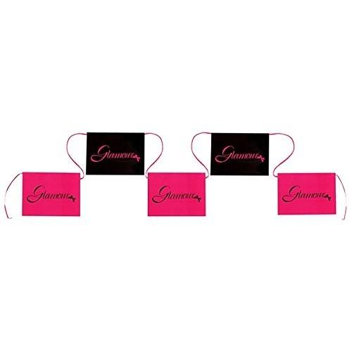 Girlande Glamour pink/schwarz, ca. 6 Meter