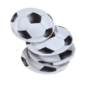 Pappteller Fußball, schwarz/weiß, 8 St.