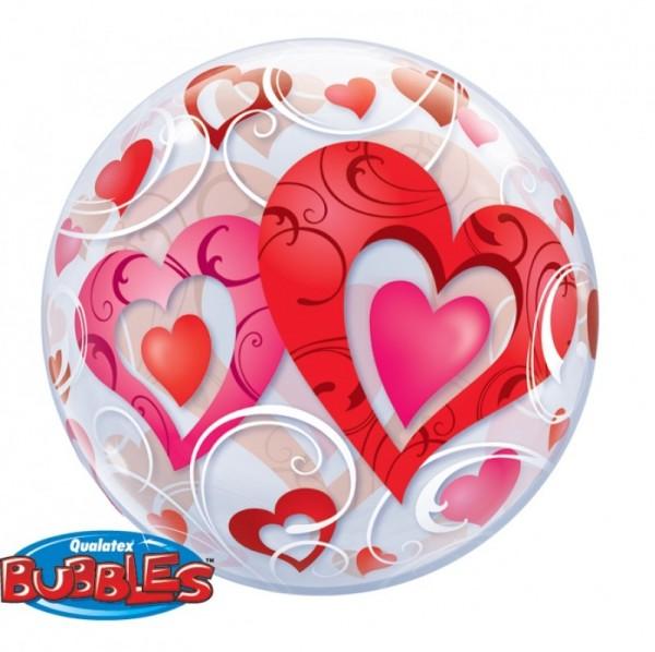 Bubble Herzen & Swirls, ca. 56 cm