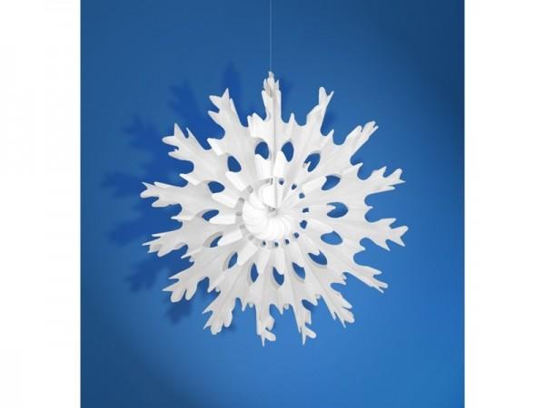 Wabenfächer Schneeflocke weiß, ca. 35 cm, 1 St.