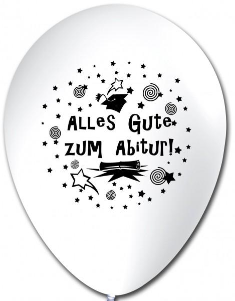 10 Ballons Abitur, weiß, ca. 30 cm