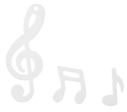 Folien-Konfetti Noten / Notenschlüßel , weiß, ca. 20 gr.