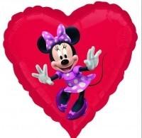 Folienherz Minnie Mouse, ca. 45 cm