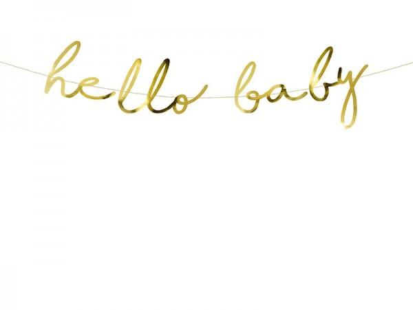 Girlande hello baby gold, ca. 2 M.