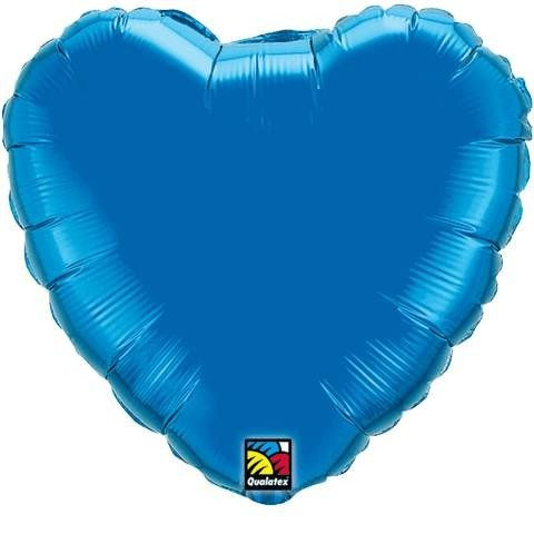 Folienherz, blau, 45 cm