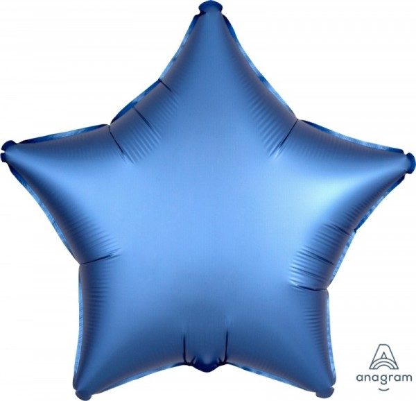 Folienstern SATIN blau, ca. 45 cm