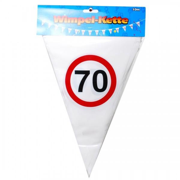 Wimpelkette 70 Verkehrsschilder, 10 Meter