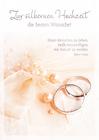 Grußkarte: Zur silbernen Hochzeit die besten Wünsche ! Ringe & Perlen