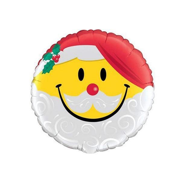 Folienballon Smiling Santa, ca. 45 cm