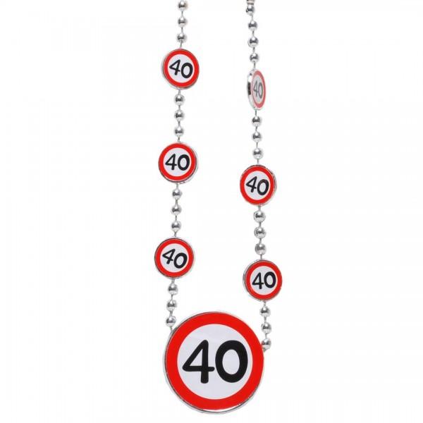 Kette 40 Verkehrsschilder
