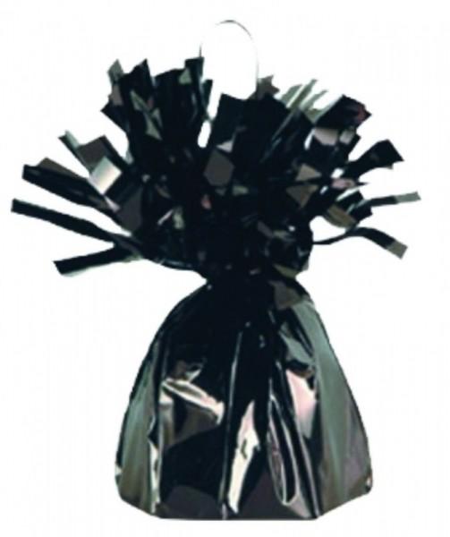 Ballongewicht Folie mit Fransen, ca. 170 gr., schwarz