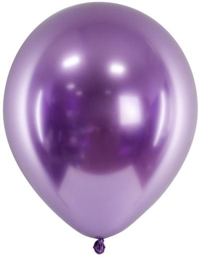 Chrome Glossy Ballons - lila violett- ca. 27/30 cm