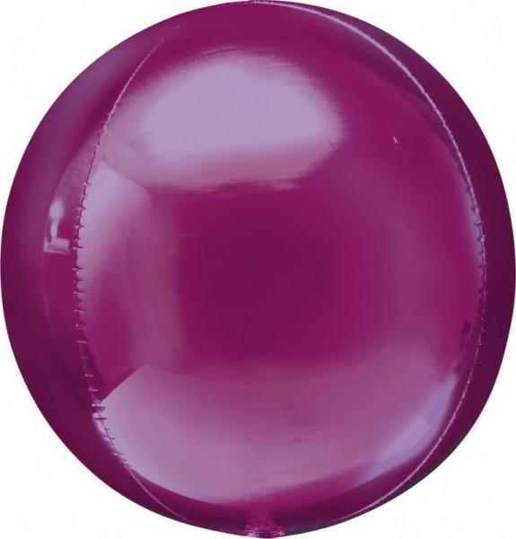Folienballon Ball/Kugel Orbz , ca. 40 cm, pink