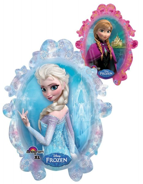 Ballongruß: Frozen Eisprinzessin, Spiegel Elsa & Anna, ca. 75 cm