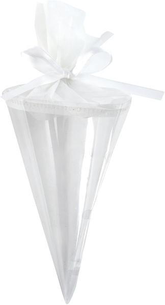Mini Zuckertüten für Gastgeschenke , weiß, ca. 10 cm , 6 St.