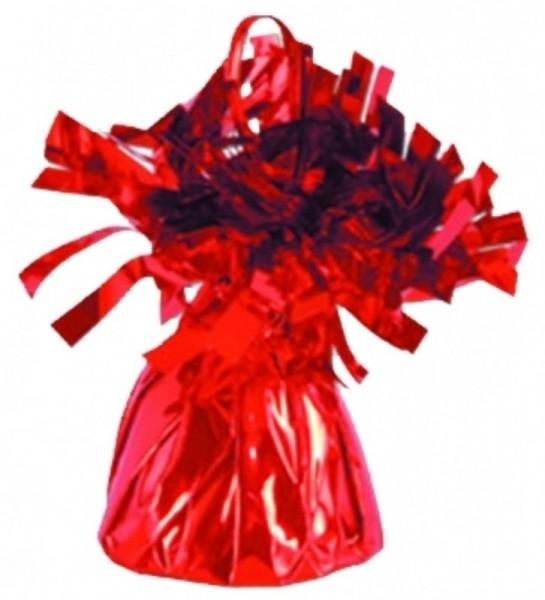 Ballongewicht Folie mit Fransen, ca. 170 gr., rot