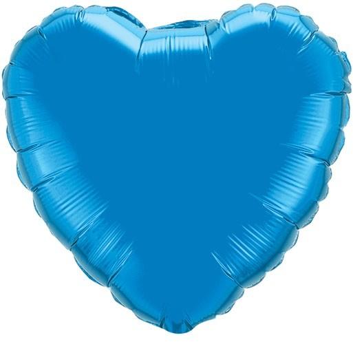 Folienherz blau, Riesenballon, ca. 90 cm