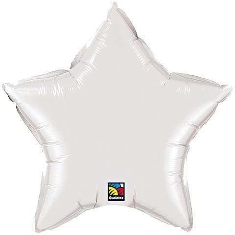 Ballongruß: Stern, weiß, ca. 50 cm