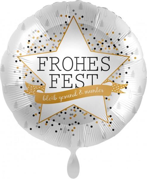 Ballongruß: Frohes Fest bleib gesund & munter, ca. 45 cm