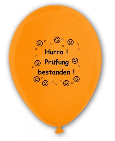 10 Ballons Prüfung bestanden, bunt sortiert, ca. 30 cm