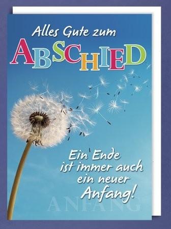 Grußkarte DIN A4: Alles Gute zum Abschied - Pusteblume