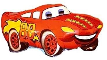 Ballongruß XL: Cars Rennwagen rot, ca. 70 cm