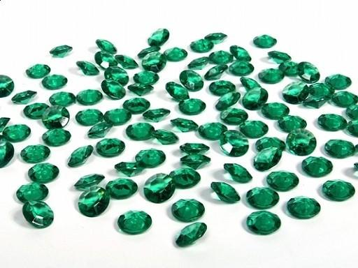Deko-Diamanten Acryl DUNKELGRÜN, 100 St., 12 mm