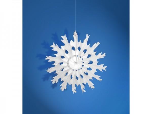 Wabenfächer Schneeflocke weiß, ca. 25 cm, 1 St.