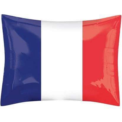 Folienballon Frankreich Flagge, ca. 53x41 cm