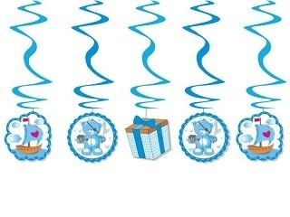 Swirl-Deko Teddy/Segelboot, blau, 5 St.