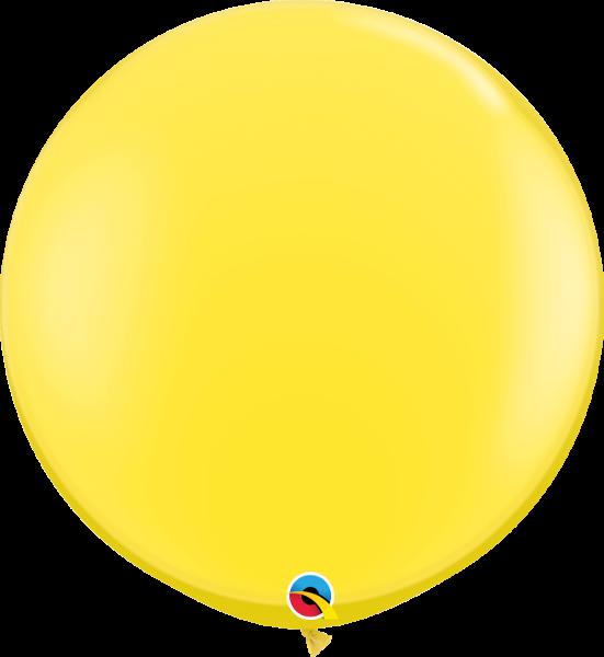 Riesenballon Qualatex, ca. 90 cm, yellow/gelb