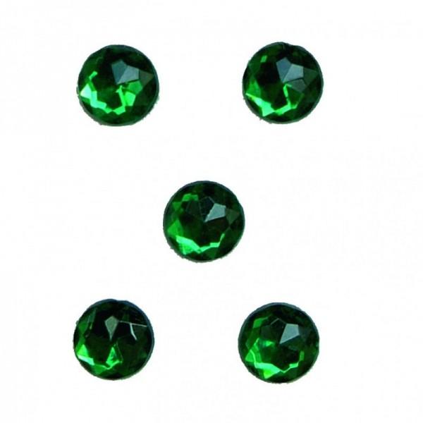 Deko-Diamanten Straßsteine Glas GRÜN, rund, 100 St., 1 cm