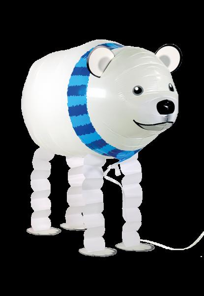 Folienballon Walker Eisbär, ca. 65 cm