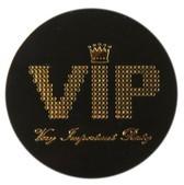Streudeko VIP schwarz/gold, ca. 3,5 cm, 50 St.