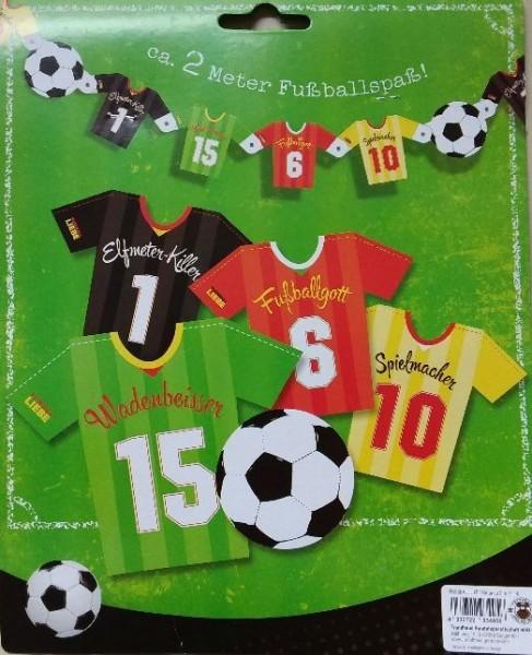 Girlande Fußball Liebe, ca. 2 M.