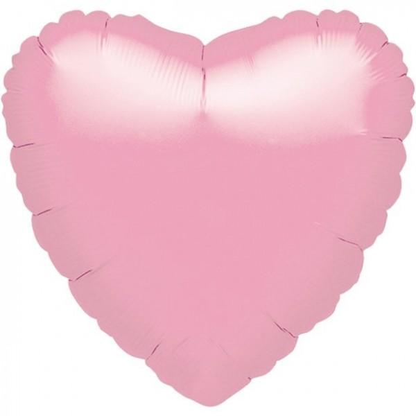 Mini-Folienherz rosa, luftgefüllt, ca. 10 cm