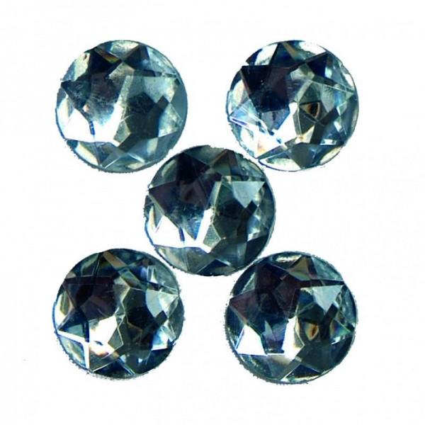Deko-Diamanten rund, klar, 100 St., 1,8 cm