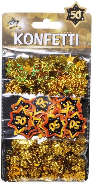 Streudeko 50 gold schwarz, 3 Sorten, ca. 28 gr.