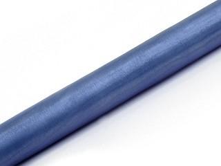Organza, ca. 36 cm x 9 Meter Rolle, dunkelblau