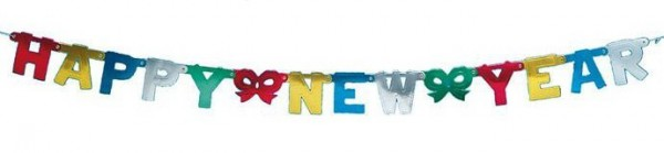 Girlande Happy New Year, ca. 1,5 Meter
