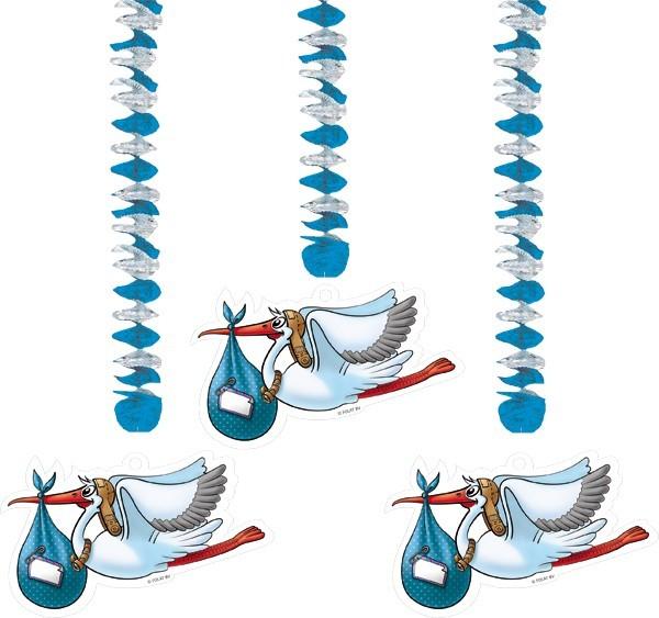 Rotorspiralen Storch, blau, 3 St.