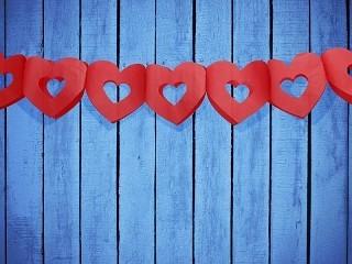 Girlande Rahmen-Herzen, rot, ca. 3 Meter