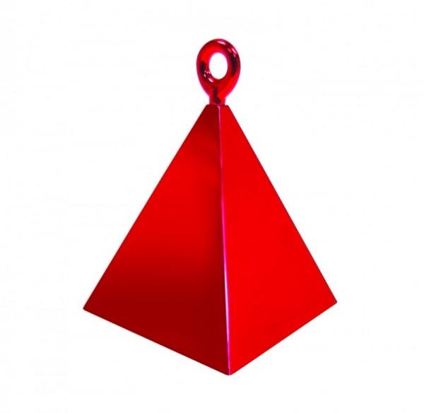 Ballongewicht Pyramide rot, ca. 150 gr.