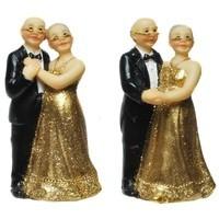 Gold-Brautpaar, stehend, ca. 7 cm