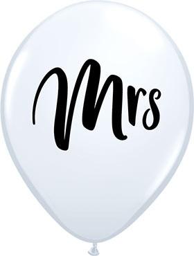 5 Ballons Mrs, Qualatex, ca. 30 cm