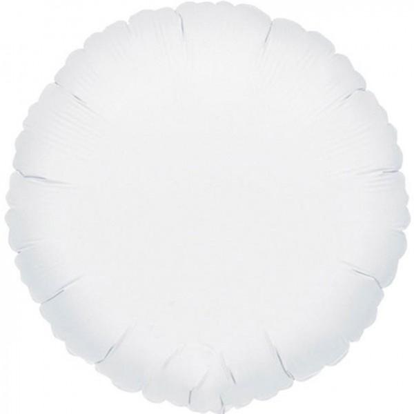 Folienballon rund weiß, ca. 45 cm